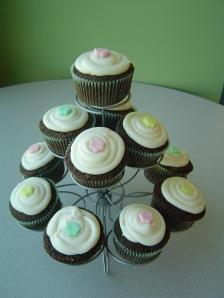 a cupcake on stand