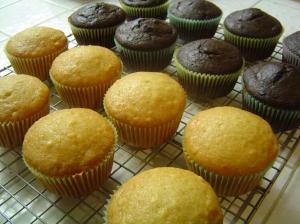 vegan cupcakes cooling
