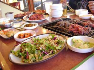 korean bbq table