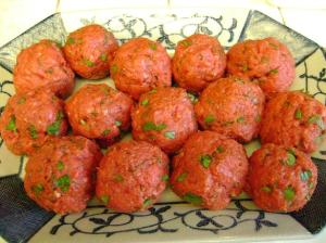 meatballs uncooked