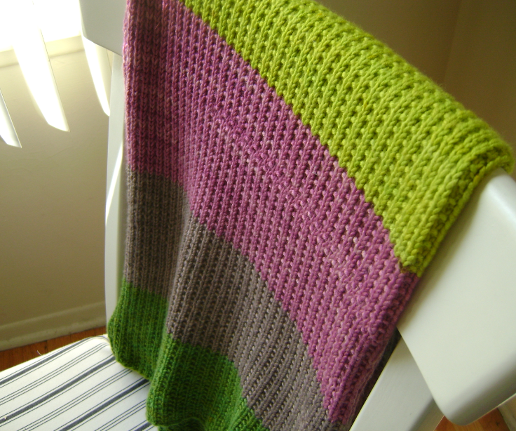 Garnstudio Knitting Patterns : ?Super Easy Baby Blanket? For a Baby Girl Lavender and OliVE