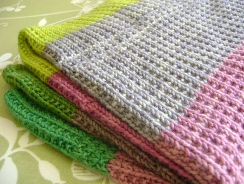 ?Super Easy Baby Blanket? For a Baby Girl Lavender and OliVE