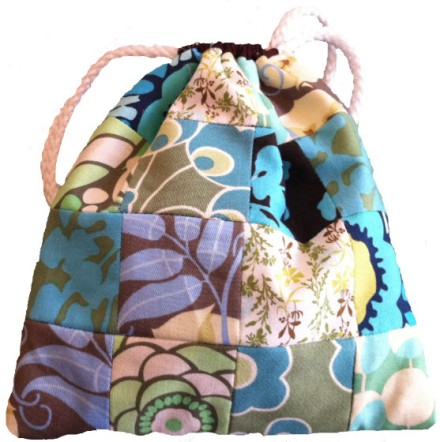 drawstring bag blue