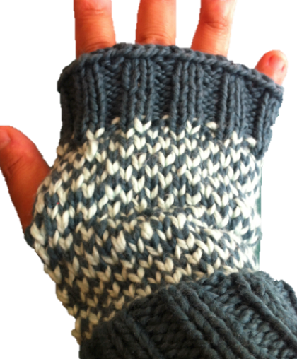 PATTERN: Easy Fingerless Fair Isle Mittens | Lavender and OliVE